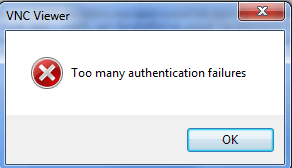 How To Resolve/Prevent 'Too Many Authentication Failures' With VNC
